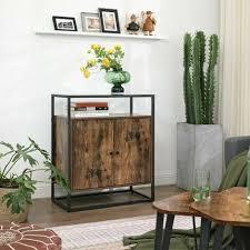 vasagle sideboard beistellschrank anrichte küchenschrank mit glasoberfläche wohnzimmer flur büro stabiles stahlgestell hartglas