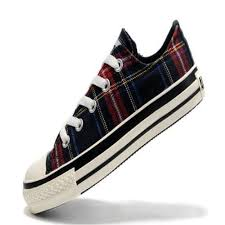 converse all plaid converse all womens shoes canvas overseas scotland low top
