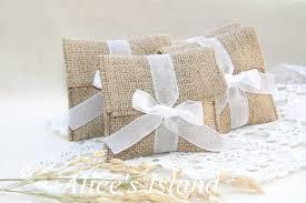12pcs Lot Rustic Favor Bags Country Wedding Favors Burlap Decor Gift Bag