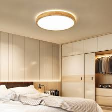 led deckenleuchte top 360 glühen holz deckenle warmweiß 24w φ30cm runde holz le für wohnzimmer schlafzimmer esszimmer büro kinderzimmer