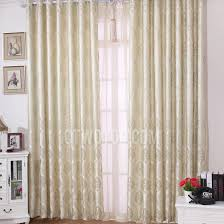 light green living room curtains of polyester and fiber