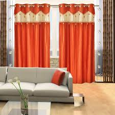 Amazon Curtains Living Room by Buy Super India Plain Faux Silk 2 Pieces Eyelet Door Curtain