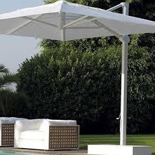 White Garden Umbrella Tensile Structure