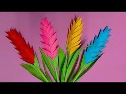 How To Make Heliconia Flower With Colour Paper Diy Flowers Making