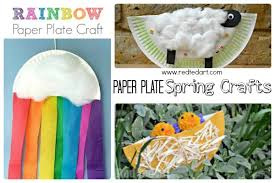 Spring Paper Plate Crafts For Toddlers Preschoolers