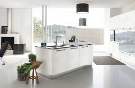 Minimalist Kitchen Plans Sample White Interior Color Near Living Room Space