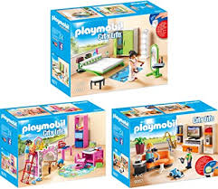 playmobil city 3er set 9267 9270 9271 wohnzimmer