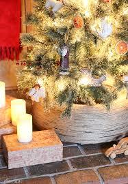 Diy Jute Wrapped Tire Christmas Tree Stand