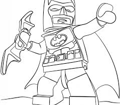 Coloring Pages Batman Lego Page Free Printable