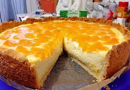 backen kochen genießen schmand pudding mandarinen torte