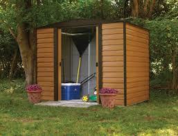 8x6 Wood Storage Shed by Arrow Woodridge 8x6 Metal Shed Wr86 Free Shipping