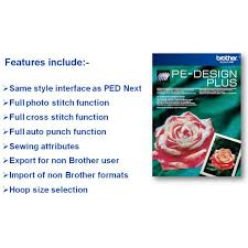 Brother PE Design Plus Basic Embroidery Software Couling Sewing