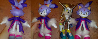 blaze the cat plush sonic fan made items 19