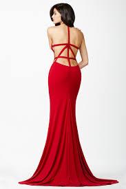 jovani jvn25634 evening dress halter neckline side cutout strappy