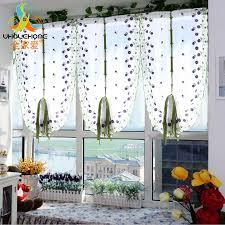 tulle voile römische vorhänge stickerei blume fenster vorhang wohnzimmer dekoration rideaux pour le salon decor 1 stücke nur