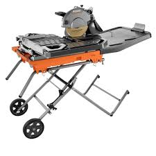 Qep Tile Saw Manual by Ridgid 10 In Wet Tile Saw With Stand R4092 The Home Depot