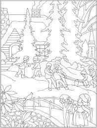 Creative Havens Winter Scenes Colouring Book