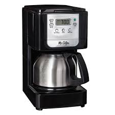 Mr Coffee Advanced Brew 5 Cup Programmable Maker With Stainless Steel Carafe Black