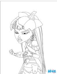 MONSTER HIGH Free Coloring Page Color Online Print