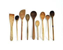 rustic wooden spoon etsy