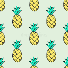 Seamless Hand drawn Pattern With Pineapple Vector Stock Vector
