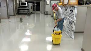 Zep Floor Sealer Home Depot by Waxing A Vct Floor Youtube
