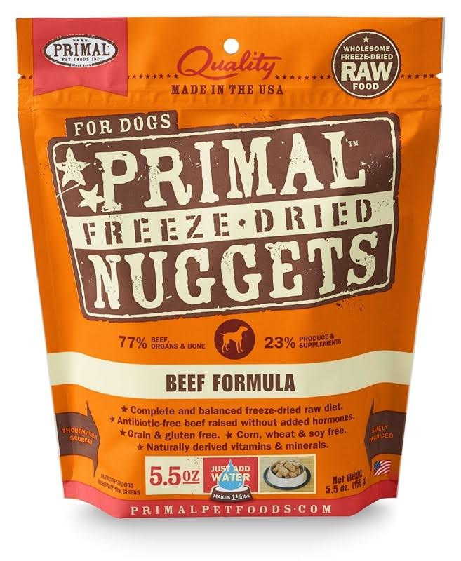 Primal Freeze Dried Formula for Dogs, Beef - 5.5 oz bag