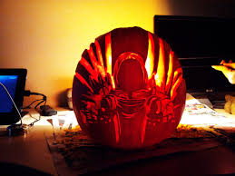 Headless Horseman Pumpkin Carving Stencil by 2014 Halloween Pumpkin Carving Contest Diablo Iii