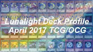 Top Ten Yugioh Decks 2017 by Yu Gi Oh April 2017 Tcg Ocg Lunalight Deck Profile Youtube