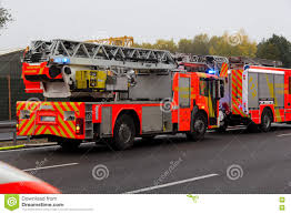 German Firefighting Trucks Stands On Freeway Editorial Image - Image ...