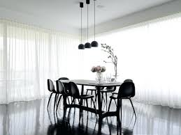 Medium Size Of Modern Dining Room Curtain Ideas Contemporary With Stained Timber Black And White Sheer