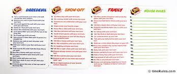 Uno Decks by Uno Dare Rules Uno Rules