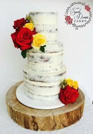 Chocolate Semi Naked Wedding Cake With Fresh Roses By My Sweet Dream Cakes Perthweddingcake