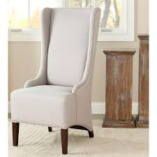Grey Upholstered Dining Chairs With Nailheads by Safavieh Bacall Taupe Linen Dining Chair Mcr4501e The Home Depot