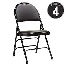 Samsonite 57314 Folding Chair (4-Pack) Black Comfort Series Steel And  Padded Vinyl Folding Chairs (57314-1050) 50 Pc Ivory Spandex Stretch Folding Arched Front Chair Covers Wedding Pair Of 1950s Heavy Steel Chairs By Samsonite 6 Pack Fabric Upholstered Padded Seat Metal Frame Fniture Black Cosco Oversized Set 4 Cushion Material Garden Upc 042952096731 Of 7 Sudden Comfort By Meco Deluxe Xl Fanback Case4 516592899 Neutral Recover Your Old 4pack