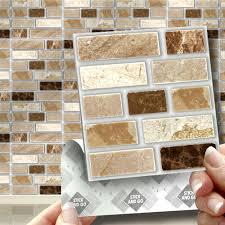 Murano Dune Mosaik Smart Tiles by 18 Peel Stick U0026 Go Stone Tablet Self Adhesive Wall Tiles Kitchens