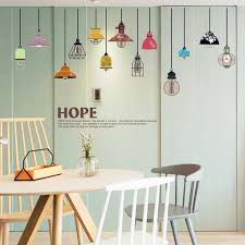 Colorful Chandelier English Letter Wall Sticker Decal Home Paper Art Picture DIY Murals Kids Nursery Baby