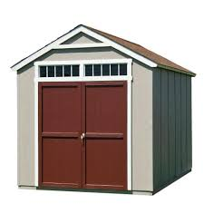 8x12 Storage Shed Materials List by Handy Home Products Installed Majestic 8 Ft X 12 Ft Wood Storage