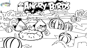 Angry Birds Coloring Pages Halloween