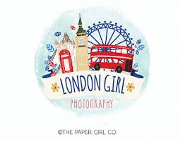 London Scene Logo Big Ben Photography Travel Agent Premade Vacation
