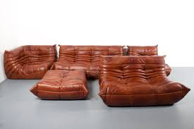 100 Ligne Rosse Large Togo Sectional Sofa By Michel Ducaroy For Roset In Leather