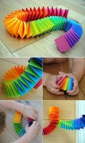 Easy Handwork For Children Beautiful Accordion Paper Snake Craft