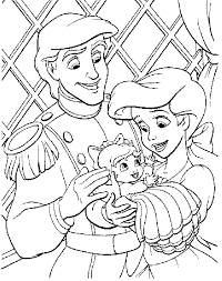 Free Printable Disney Princess Ariel Coloring Page