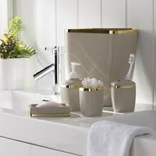 Wayfair Bathroom Vanity Accessories by White Bath Accessory Sets You U0027ll Love Wayfair