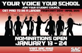 Student Council Nominations Now Open