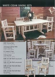 Captain Chairs For Dining Room Table by Manataka Ozark Cedar Furniture