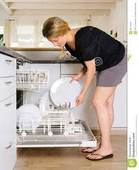 Unloading The Dishwasher Stock Photo Image Of Appliance