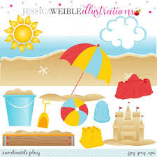 Sandcastle Play Cute Digital Clipart For Card By JWIllustrations