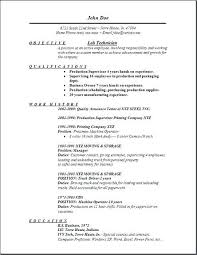Resume Examples For Medical Laboratory Technician Feat Chemistry Lab