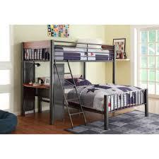 bunk beds queen size bunk bed with desk twin over queen bunk bed